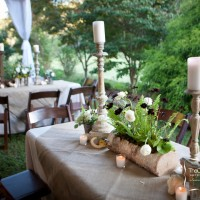 Rustic wedding reception is available at your request here at Glen-Ella Springs Inn, a Georgia Mountains bed and breakfast.