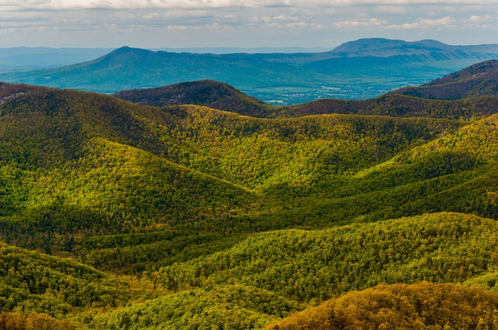 View of the Appalachian Mountains from Black Rock Mountain, a GA state park
