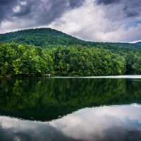 View of Smith Lake at Unicoi State Park in GA