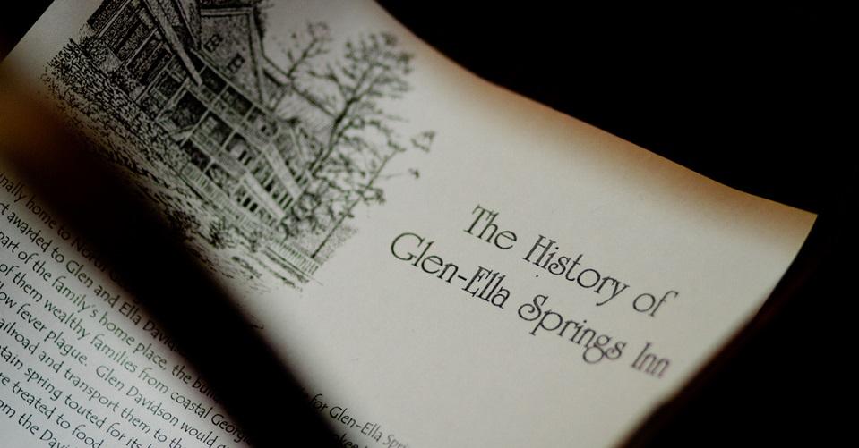 Glen Ella Springs History