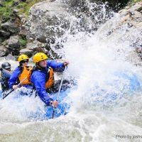 Friends enjoying Tallulah Gorge Kayaking