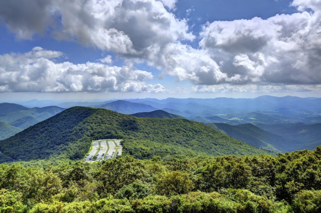 View of the Appalachian Mountains from Brasstown Bald, GA