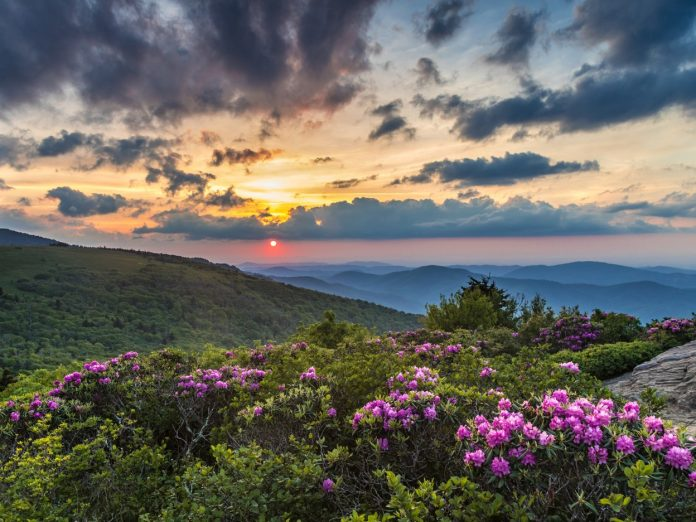 Sunrise view of one of the best State Parks in North Georgia in the spring