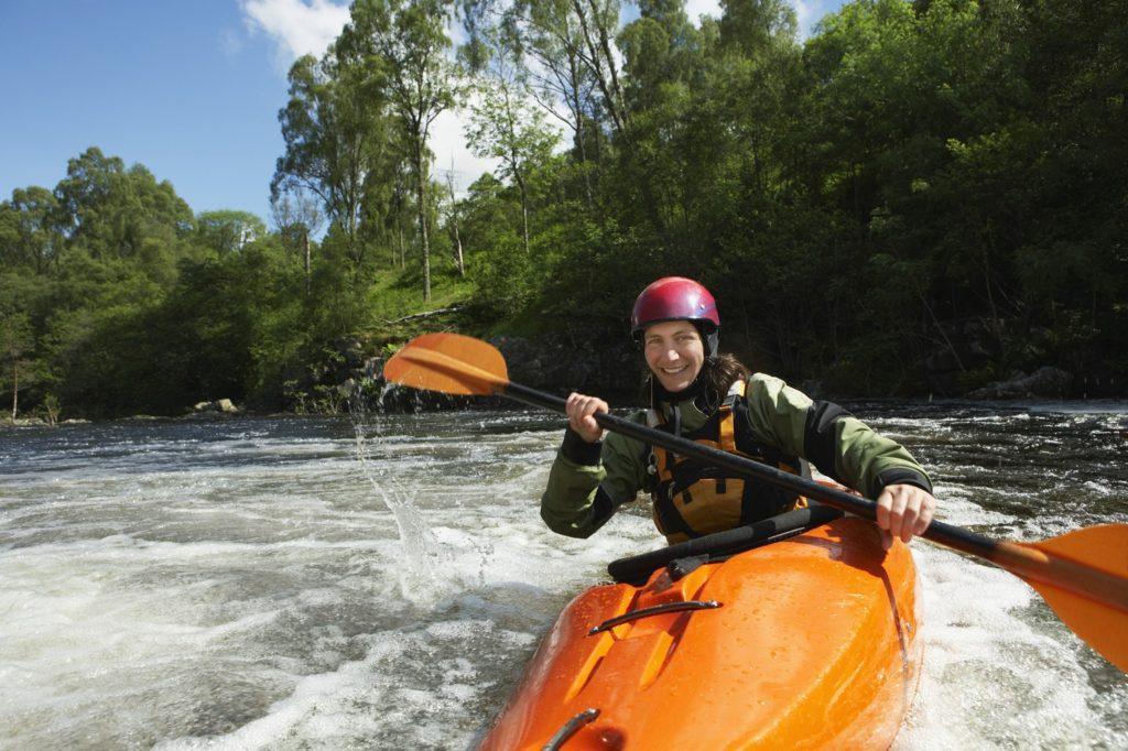 Woman kayaking in Georgia