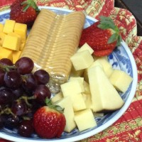 Fruit and cheese tray $15.95