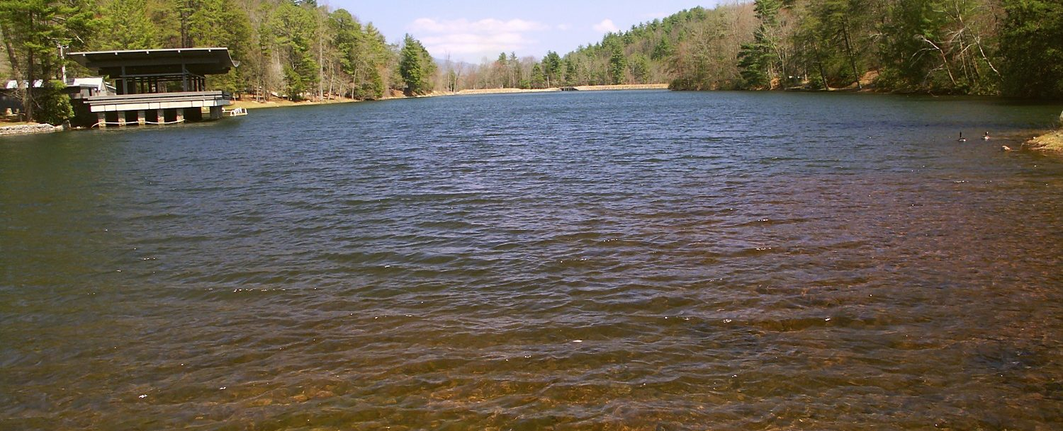 View of the lake at Vogel State Park in Georgia