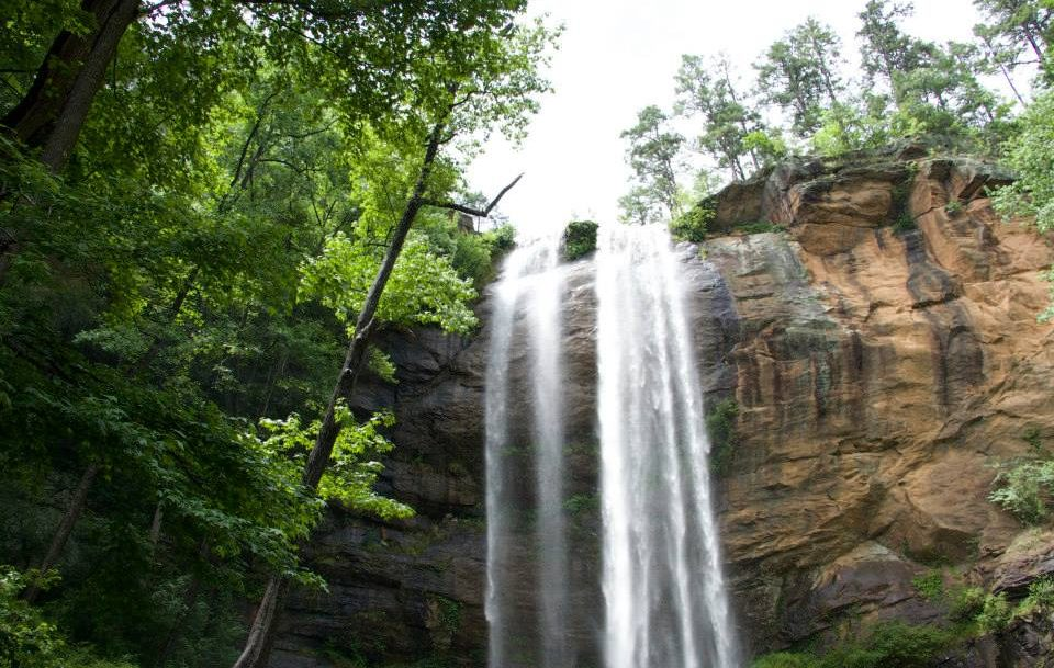 Visiting the Toccoa Falls Waterfall
