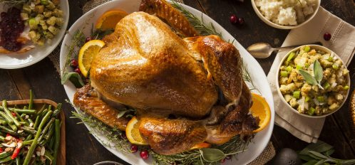 Turkey dinner during Thanksgiving in Georgia