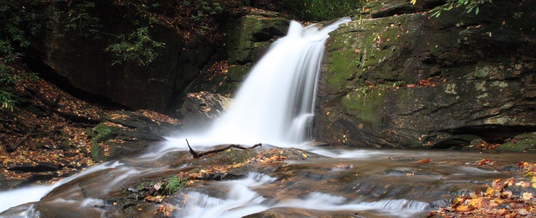Falls on Dodd Creek along Raven Cliff Falls Trail in Georgia.
