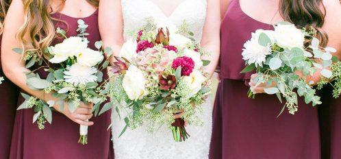 bridal bouquet and bridesmaids bouquets