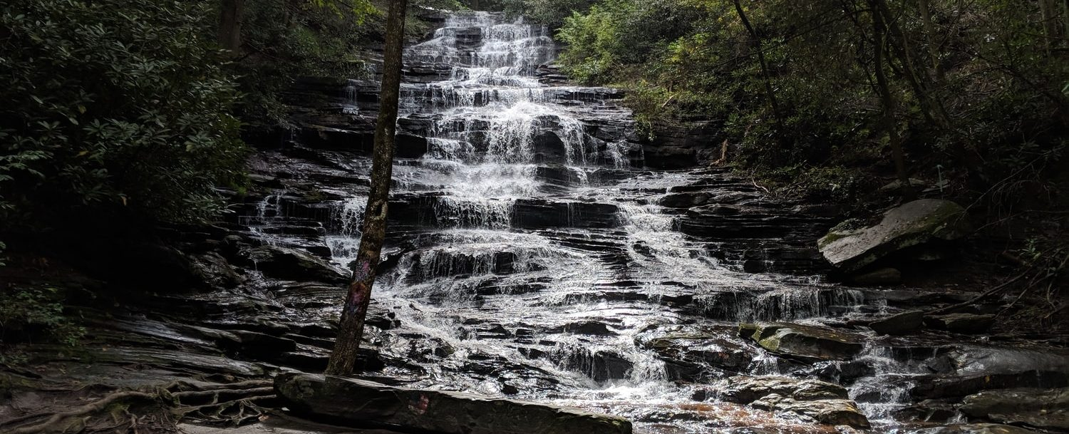 Minnehaha falls; one of the best spots for hiking in North Georgia