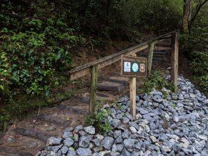 Minnehaha falls trail entrance