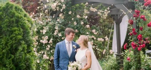 photo of a happy couple from a wedding held at Glen-Ella Springs Inn